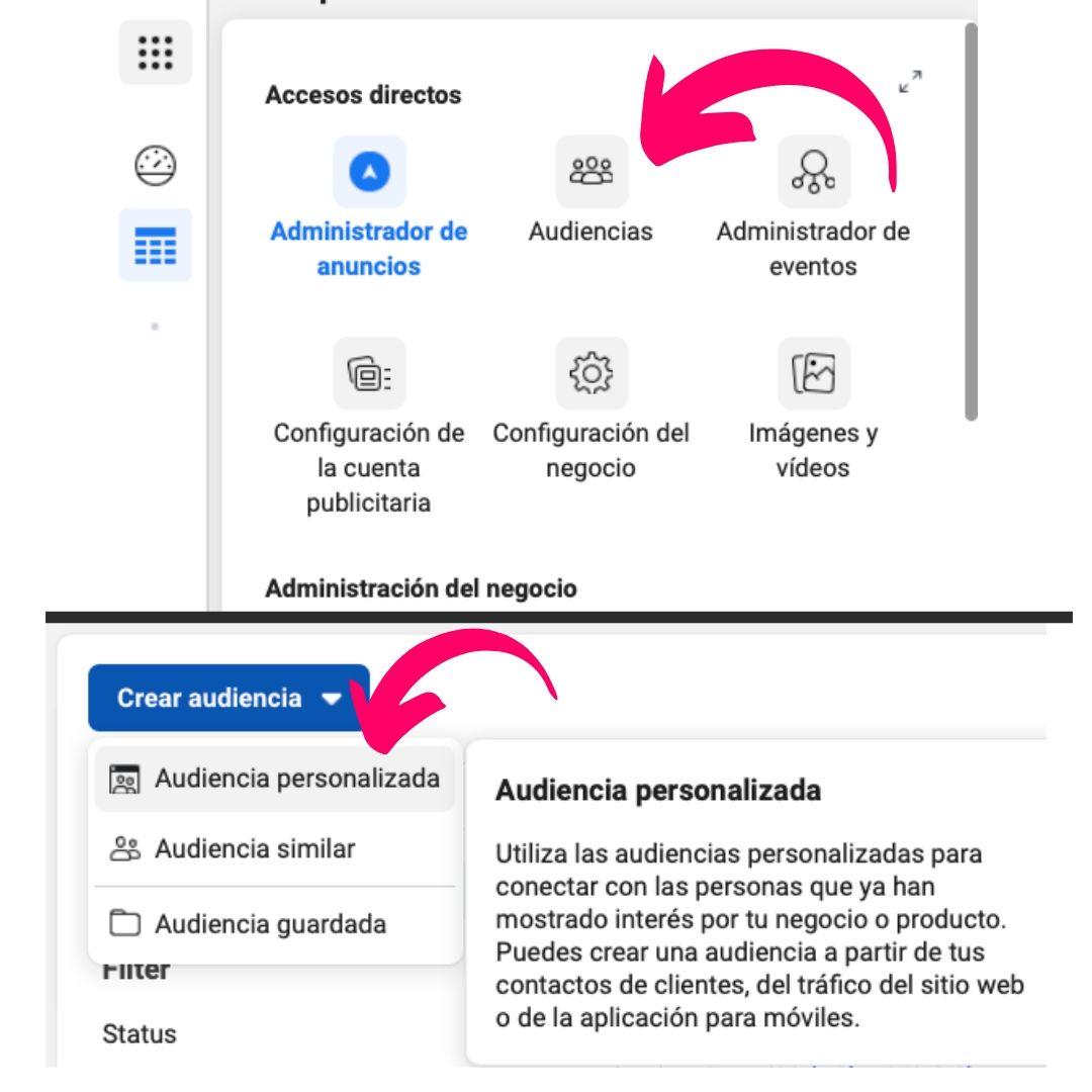 creación audiencia personalizada para publicidad en instagram